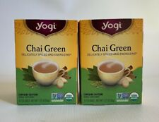 YOGI TEA -  Chai Green Tea Bags16 Tea Bags Each 2 Packs