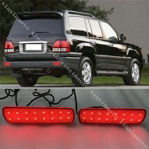 LED Rear Bumper Fog Lamp Light For Toyota Land Cruiser 4500/4700/LC100 1998-2007