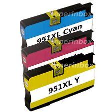 3 Pk 951XL C/M/Y Compatible Ink Cartridge For OfficeJet Pro 8100 8600 8610 8615