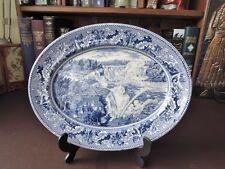 Vintage Blue & White Display Platter - Historic America by Johnson Bros