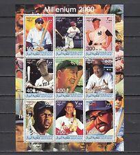 Somaliland, 2001 Cinderella issue. Baseball Great`s sheet of 9.