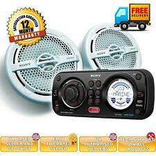 Sony Marine boat package CDX-HR910UI and XS-MP1611 boat speakers