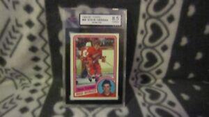 1984 Topps Steve Yzerman #49 Hockey Card KSA 8.5