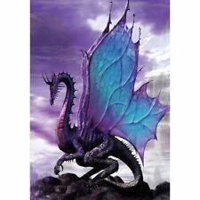 Welcome Purple Dragon Animal Large Garden Flag Double-sided Yard Banner Decor
