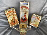VTG Pasta Parmesan D'Oilve 1986 Amco Corp Magazzino Italia Tin Empty Set Of 4