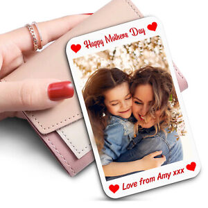 Mothers Day Gift Purse Wallet WHITE Metal Card Insert Gift For Mum Personalised