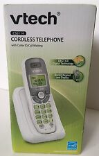 VTech CS6114 DECT 6.0 Cordless Phone with Caller ID/Call Waiting, White/Grey wit