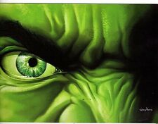 Unframed Art Poster comic book artist greghorn hulk face (k67)