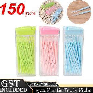 150pcs Dental Picks toothpicks BrushPicks Brush Tooth Picks Interdental Plastic