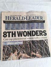 2012 Kentucky Wildcats Lexington Herald-Leader NCAA Champs Anthony Davis
