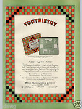 1928 PAPER AD 3 PG Tootsietoy Dowst Co Doll House Furniture Blue Steak Pedal Car