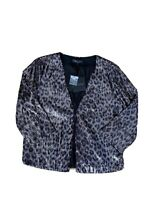 NWT Harlow Women's Printed Sequin Jacket Size 12 RRP $ 129.99