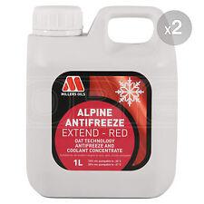 Millers Alpine Antifreeze Extend Longlife Red Antifreeze / Coolant 2 x 1 Litre