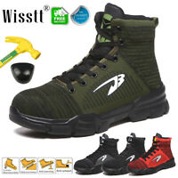 Men Steel Toe Cap Safety Shoes High Top Work Boots Light Indestructible Sneakers