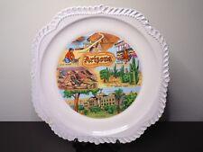 Vintage Arizona Souvenir Plate With 6 Different Attractions