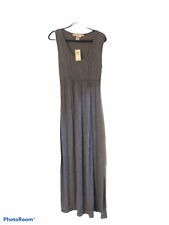 $110 Max Studio Navy Blue 911V53 Long Stretch Sleeveless Maxi Dress L Large