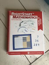 Rightstart Tm Mathematics, Level A Lessons, Second Edition, By Joan A. Cotter