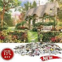 1000 Piece Jigsaw Puzzle England Cottage Landscapes Puzzles Educational C7O9