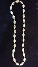 lu madein Uganda Nwot Paper Bead necklace multicolored green/gold/black/orange/b