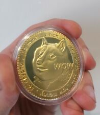 High Quality Gold Plated Physical Dogecoin - UK Delivery