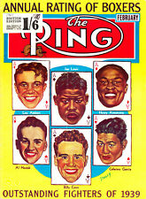 THE RING - BOXING MAGAZINE RARE FEB 1940 - GREAT CONDITION FOR AGE