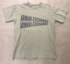 ARMANI EXCHANGE A/X Spell Out Logo S/S T-Shirt mens XS Tan/Beige