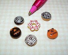 Miniature Pretty Loose Halloween Doughnuts Donuts (6) DOLLHOUSE Miniatures 1/12