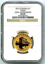 2012 CANADA $1 25TH ANNIVERSARY NGC SP69 DOLLAR LOON LOONIE RARELY SEEN