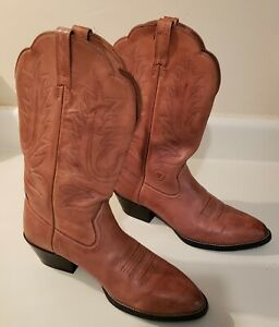 Ariat Womens size 9 B Heritage boots R Toe Cowgirl Western Brown Leather 15718