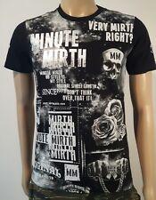 Minute Mirth Shirt.neu.Trash Punk Roses Skull Art Vintage Design Streetwear