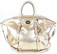 Michael Kors Leather Bedford Gold Shoulder Bag Medium Handbag RRP £310