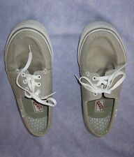 Men's VTG VANS Size 11.5 Pewter Gray Zapato Shoes Comfortable Moccasin Style