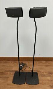 Pair (2) Bose Cinemate Speakers AV 3-2-1 321 w/Cables, Floor Stands, & Cords
