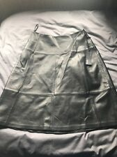 M&S AUTOGRAPH Luxury Leather Black A LINE skirt Length 24inches