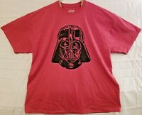 Star Wars Mens Size XXL Darth Vader Head Red Short Sleeve Graphic T Shirt