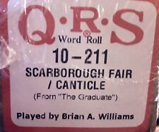 SCARBOROUGH FAIR/CANTICLE The Graduate Simon/Gar BRAND NEW  PIANOLA PLAYER  ROLL