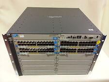 J8700A HP ProCurve 5412zl E5412-96G 4x J8702A PoE 2x J8712A PSU J8698A Switch