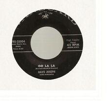 """Dave Joseph - Oo La La/Another Mile To Go (7"""" Vanguard) RARE"""