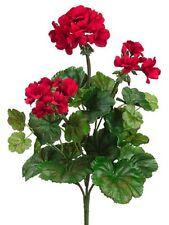 "19"" Water-Resistant Geranium Bush x5 RED (Pack of 6) Artificial Flower Silk"