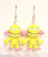 "Harajuku Japan The Gooli Monsters Yellow BLINKS Mini Art Toys 2"" Dangle Earrings"