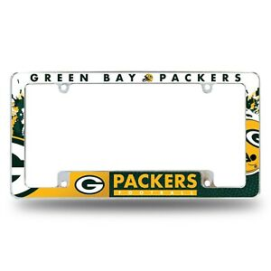Green Bay Packers Chrome ALL OVER Premium License Plate Frame Cover Truck Car