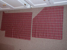 """Longaberger """"PLAID TIDINGS"""" Fabric Rimnants, Excellent condition."""