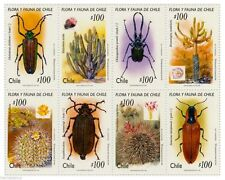 Chile 1995 #1712-19 Flora y Fauna Insects MNH