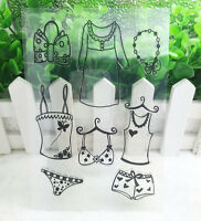 Clothes Silicone Rubber Clear Stamp Seal Scrapbooking Diary Christmas Card