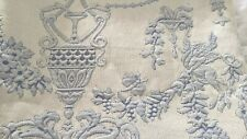 """New ListingElegant Blue & Ivory Jacquard Tapestry toile style bedcover 70"""" x 84"""" tablecloth"""