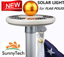 Sunnytech 2017 New 3rd Generation-Solar Flag Pole Flagpole Light-Latest Upgraded