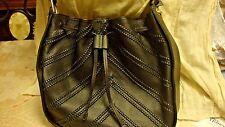 Vince Camuto  Rayli Drawstring Leather Hobo Shoulder Bag  Black BNWOT