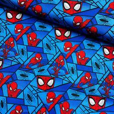 100% Cotton Fabric Camelot Spiderman Block Webs Superhero Spiders