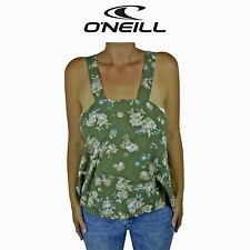 Womens O'Neill Ilana Floral Printed Surf Summer Sleeveless Top Green Tank O1.15