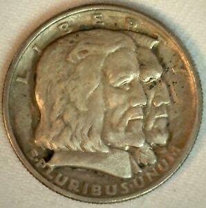 1936 Long Island Half Dollar 50c Commemorative US Silver Coin Extra Fine